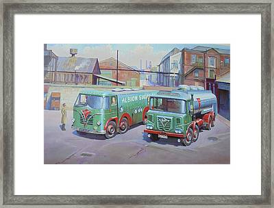 Albion Sugar Fodens At Rochester Framed Print