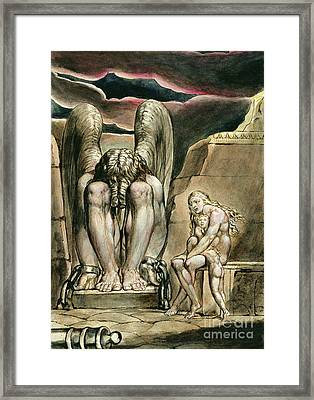 Albion's Angel, Frontispiece To America, A Prophecy, Circa 1821 Framed Print