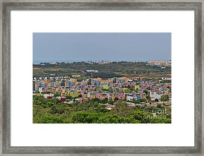 Albufeira Marina View Framed Print