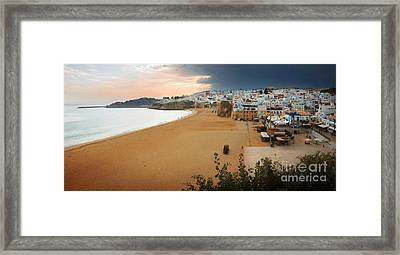 Albufeira Panorama Framed Print by Carlos Caetano