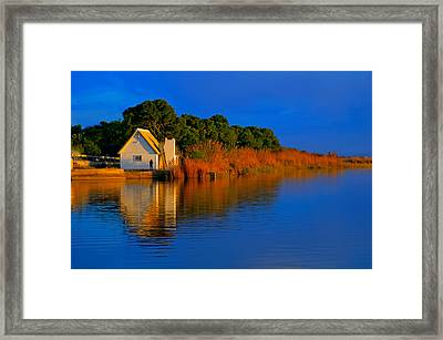 Albufera Blue. Valencia. Spain Framed Print