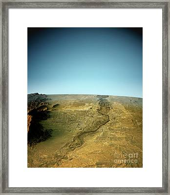 Albuquerque 3d View North-south Natural Color Framed Print by Frank Ramspott