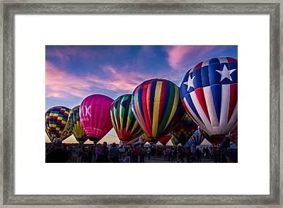Albuquerque Hot Air Balloon Fiesta Framed Print
