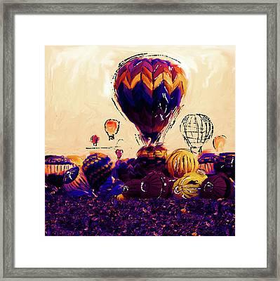 Albuquerque International Balloon Fiesta 252 2 Framed Print by Mawra Tahreem