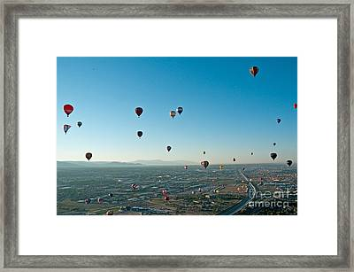 Albuquerque View Framed Print by Jim Chamberlain
