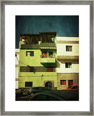 Framed Print featuring the photograph Alcala, Another Green House by Anne Kotan