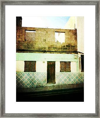 Framed Print featuring the photograph Alcala Blue House No1 by Anne Kotan