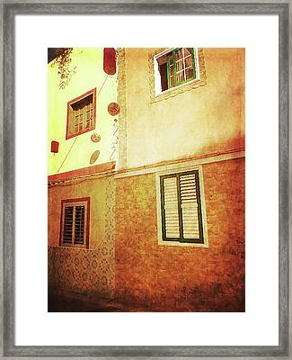 Framed Print featuring the photograph Alcala, Fiesta House by Anne Kotan