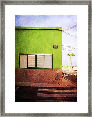 Framed Print featuring the photograph Alcala Green Corner by Anne Kotan