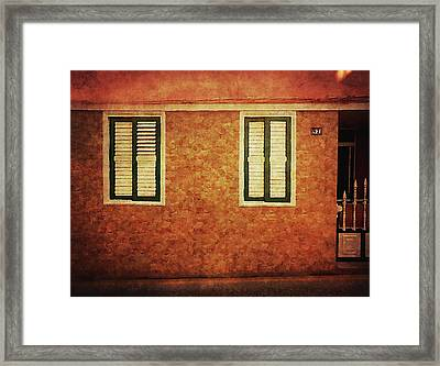 Framed Print featuring the photograph Alcala, Orange House by Anne Kotan