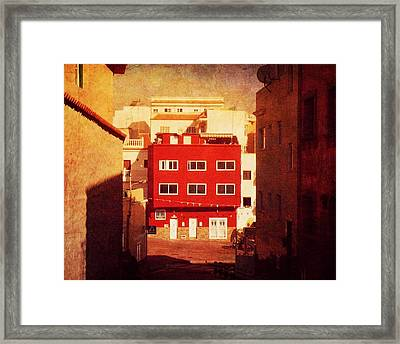 Framed Print featuring the photograph Alcala Red House No1 by Anne Kotan