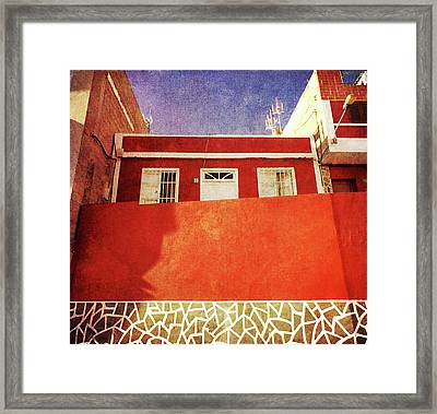 Framed Print featuring the photograph Alcala Red House No2 by Anne Kotan