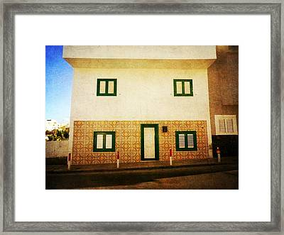 Framed Print featuring the photograph Alcala White House No1 by Anne Kotan