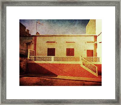 Framed Print featuring the photograph Alcala Yellow Red House by Anne Kotan