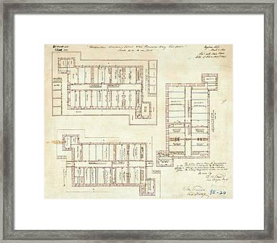 Alcatraz Citadel Drawing 1857 Framed Print by Jon Neidert