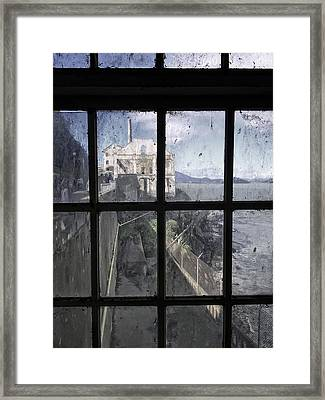 Alcatraz Escape Beach From Guard House Framed Print by Daniel Hagerman
