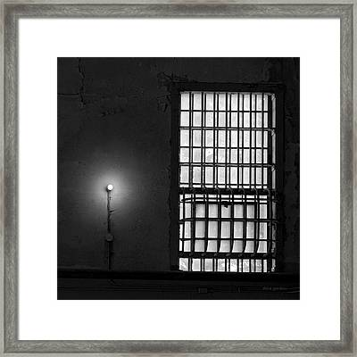 Alcatraz I Bw Sq Framed Print by David Gordon