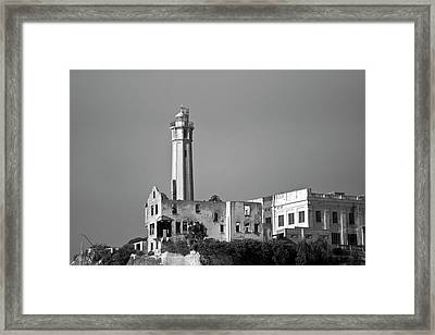 Alcatraz II Bw Framed Print by David Gordon