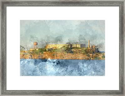 Alcatraz Island In San Francisco California Framed Print