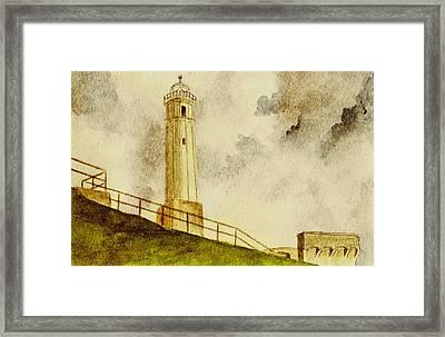 Alcatraz Island Lighthouse Framed Print