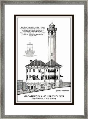 Alcatraz Island Lighthouses Framed Print