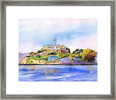 Alcatraz Island San Francisco Bay Framed Print