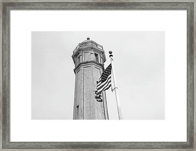 Alcatraz Light - San Francisco Framed Print by Art Block Collections