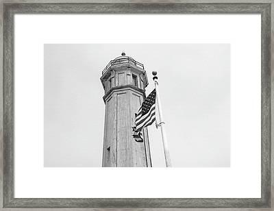 Alcatraz Light - San Francisco Framed Print