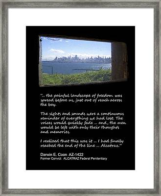 Alcatraz Reality - The Painful Landscape Of Freedom Framed Print by Daniel Hagerman