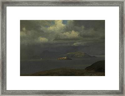 Alcatraz, San Francisco Bay Framed Print by Albert Bierstadt