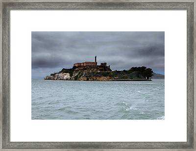 Alcatraz Storm Framed Print by Joe Myeress