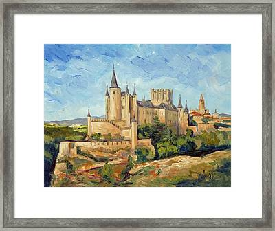 Alcazar In Segovia Framed Print
