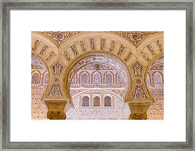 Alcazar Of Seville - Unique Architecture Framed Print