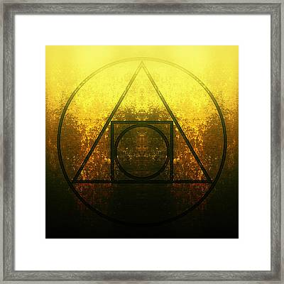 Alchemy - Squared Circle Framed Print by Edouard Coleman