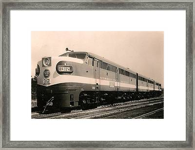 Alcoa Ge Freight Locomotive Framed Print by Lawrence Christopher