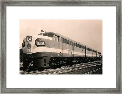 Alcoa Ge Freight Locomotive Framed Print