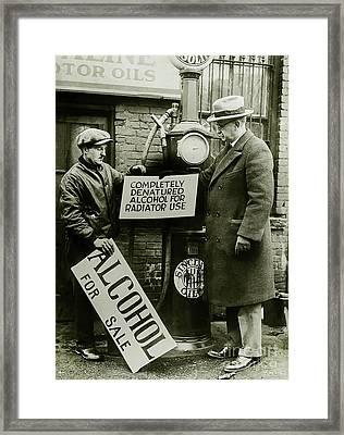 Alcohol For Sale Framed Print by Jon Neidert
