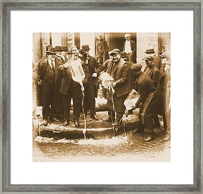Alcohol Prohibition Era Image Framed Print by Dan Sproul
