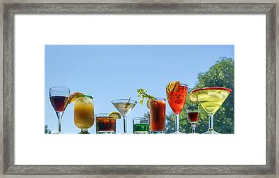 Alcoholic Beverages - Outdoor Bar Framed Print by Nikolyn McDonald