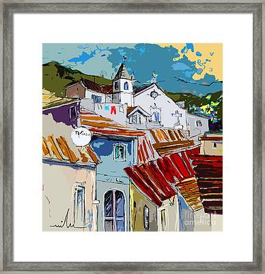 Alcoutim In Portugal 08 Bis Framed Print by Miki De Goodaboom