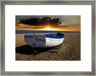 Aldeburgh Beach Framed Print by Martin Newman
