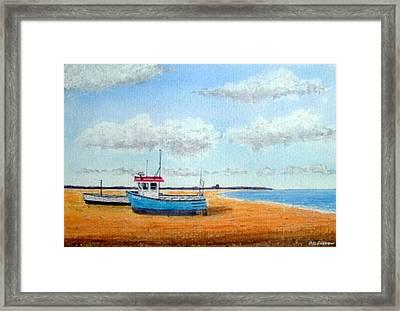 Aldeburgh Beach, Suffolk - Sold Framed Print by Peter Farrow