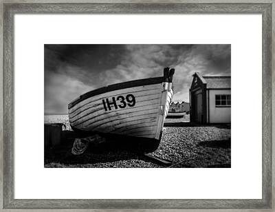Aldeburgh Fishing Boats Framed Print by Martin Newman