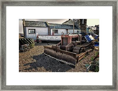 Aldeburgh Fishing Huts Framed Print by Martin Newman