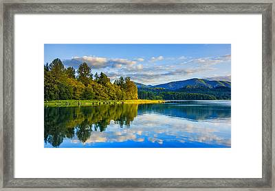 Alder Lake Reflection Framed Print