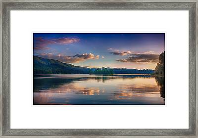 Alder Lake Sunset Framed Print