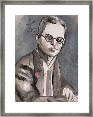 Aldous Huxley Framed Print by Darkest Artist
