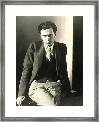 Aldous Huxley Framed Print by Everett