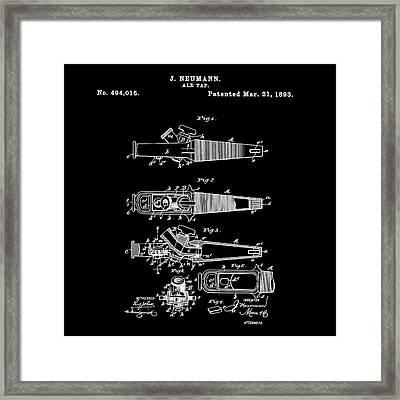 Ale Tap Patent 1893 In Black Framed Print