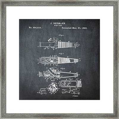 Ale Tap Patent 1893 In Chalk Framed Print